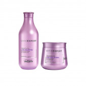 L'Oreal Professionnel Serie Expert Prokertin Liss Unlimited Shampoo 300 mL + Masque 250 mL  (550 ml)