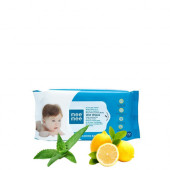 Mee Mee Caring Baby Wet Wipes, Lemon Fragrance (72 Pieces)