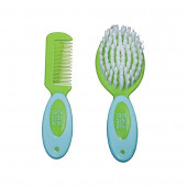 Mee Mee Soft Grip Brush and Comb Set (Blue)