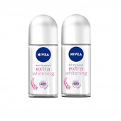 NIVEA IMPORTED EXTRA WHITENING ROLL ON -50ML-Pack of 2