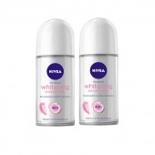 Nivea Whitening Smooth Skin Deodorant Roll On For Women  (50 ml, Pack of 2)