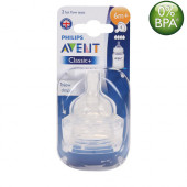 Philips Avent Classic Nipples (6M+) Twin Pack