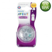 Philips Avent Natural Nipples (0m+) Twin Pack