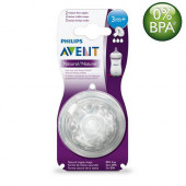 Philips Avent Natural Nipples (3m+) Twin Pack