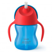 Philips Avent Bendy Straw Cup Red Sky Blue - 200 ml