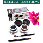 Music Flower Gel Eyeliner black and brown