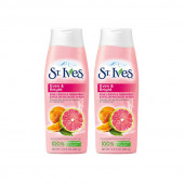 St. Ives Imported Even And Bright, Pink Lemon & Mandarin Body Wash (400ml-Pack of 2)