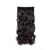 "SWACC 20"" Women 3/4 Full Head Instant One Piece Curly Body Wave Heat Resistance Synthetic Clip in Hair Extension (Dark Brown-4#)"
