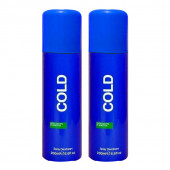 Ucb Cold Blue Deodorant 200Ml (Pack Of 2)