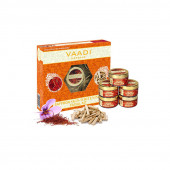 Vaadi Herbals Saffron Skin Whitening Facial Kit with Sandalwood Extract, 270g
