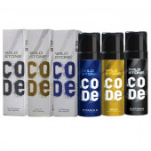 Wild Stone Code Gold, Platinum & Titanium Deodorant (Set Of 3)