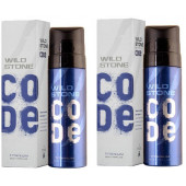 Wild Stone Code Titanium Body Perfume Spray 120ml -(Pack OF 2)