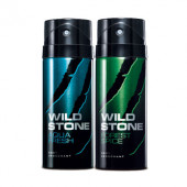 Wild Stone Forest Spice, Aqua Fresh (Pack of 2) Deodorants