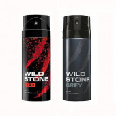 Wild Stone Red And Grey Body Spray (Pack OF 2)