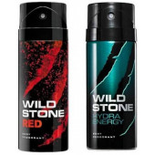 Wild Stone Red And Hydra Energy Body Spray (Pack OF 2)