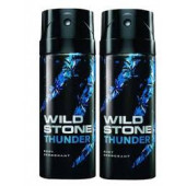 Wild Stone Thunder Body Deodorant 150ml - (Pack OF2)