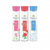 Yardley English Rose, Red Roses, Lace (Pack of 3)Deo For Women