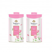 Yardley London English Rose Perfumed Talc 250g (Pack of 2) For Women