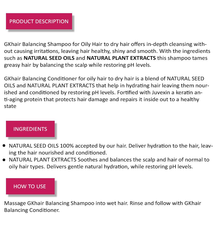 Global Keratin Imported Balancing Shampoo+Conditioner Combo